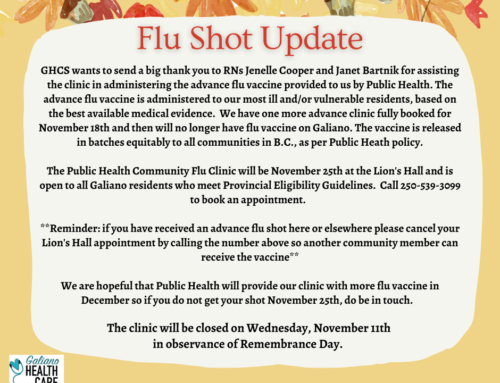 Flu Shots – Update